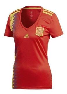 Camisa adidas Oficial Espanha 1 - Feminina 2018