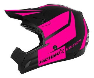 Capacete Feminino Moto Cross Jett Factory Pink Pro Tork
