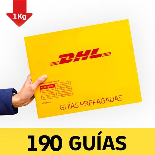 190 Guía Prepagada Día Siguiente Dhl 1kg+recolección Gratis