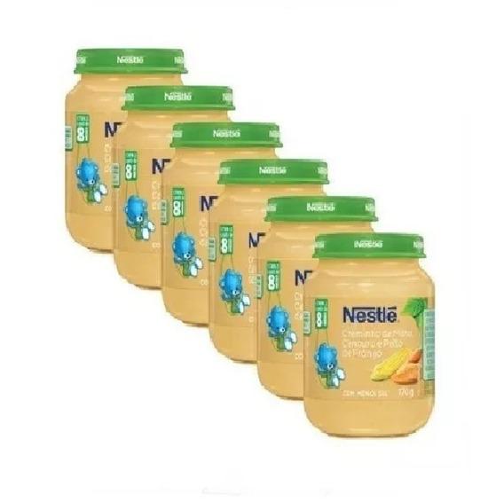 Papinha Nestlé Milho Cenoura Frango 12 Potes Atacado Oferta