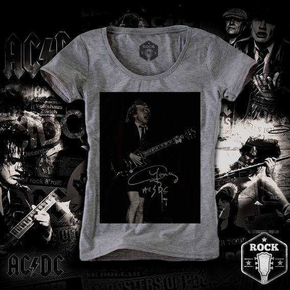 Remera Ac Dc Angus Young Rock Internacional Mujer