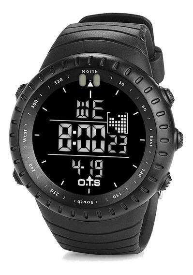 Relógio Ots Masculino Multifuncional Esporte Digital Led Militar Corrida Original Promoção