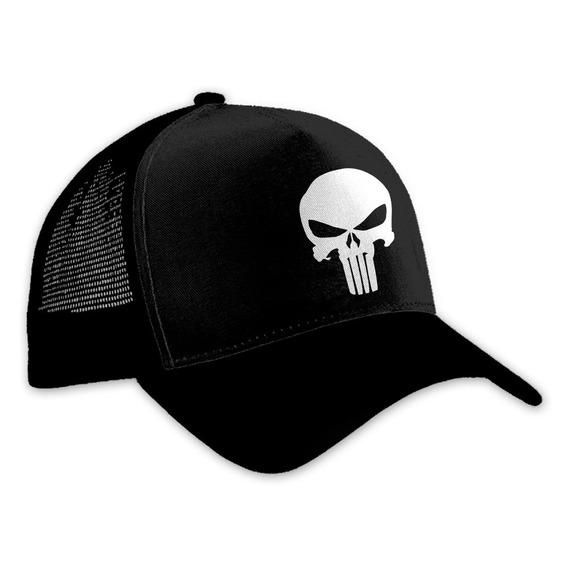 Envío Gratis Gorra Punisher Negra