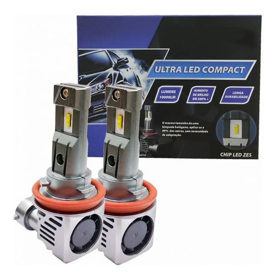 Lampada Farol Led Par H11 H8 H9 Ultra Compact Chip Zes 6000k