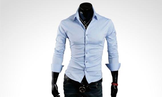 Pack X 2 Camisas Entalladas Slim Fit Para Hombre De Diseño