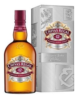 Whisky Chivas Regal 12 Años Botellon De Litro Con Estuche