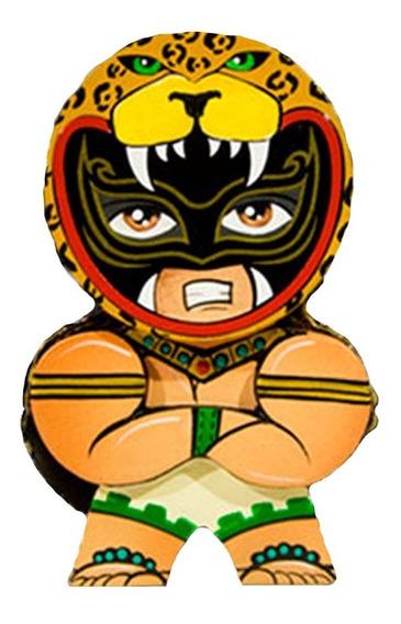 Figura Artesanal 10 Cm Luchador Guerrero Jaguar Neografika
