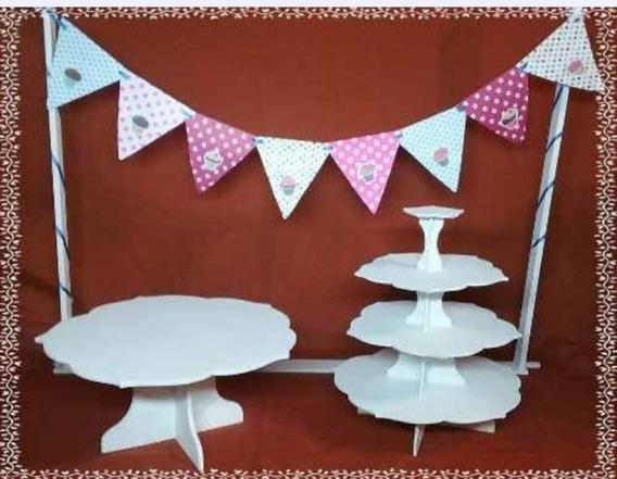Candy Bar Posa Torta Y Torre Cupcake