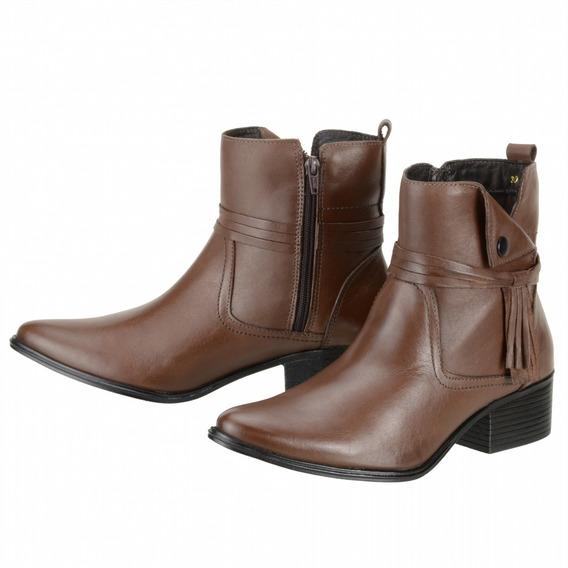 Bota Couro Legítimo Dududias Ankle Boot Cano Curto - 306