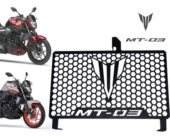 Tela Protetora De Radiador Aço Carbono Yamaha Mt03 15/18