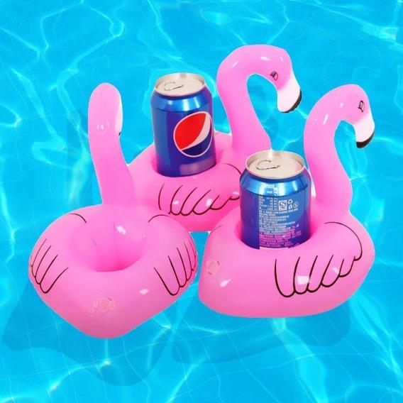 Kit 25 Boias Flamingos Porta Copo Piscina - Festa Na Piscina