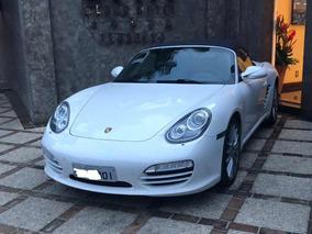 Porsche Branco Com Capota E Interior Azul