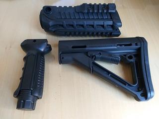 Kit M4 Airsoft Handguard + Front Grip + Stock