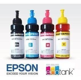 Kit 4 Tintas Epson Original Masterprint L395 L396 L200 L355