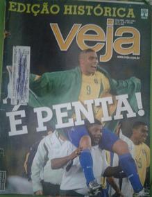 Revista Veja Edição Histórica È Penta! N.26a 2002