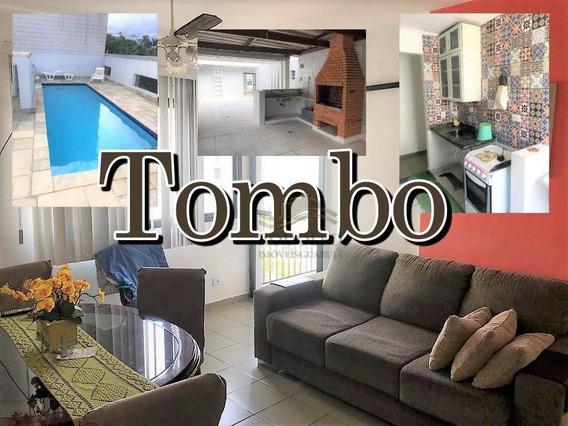Oportunidade!! Guarujá Tombo, 2 Dts Sendo 1 Suíte, 2 Sacadas, 2 Banheiros, Lazer ( Piscina, Salão De Festas Com Churras) - Ap0801