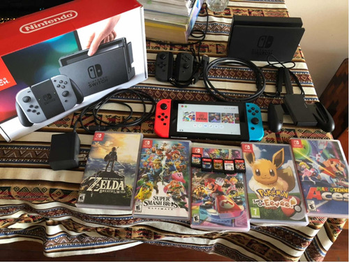 Nintendo Switch Standard 32gb + 2 Joystick + 10 Juegos