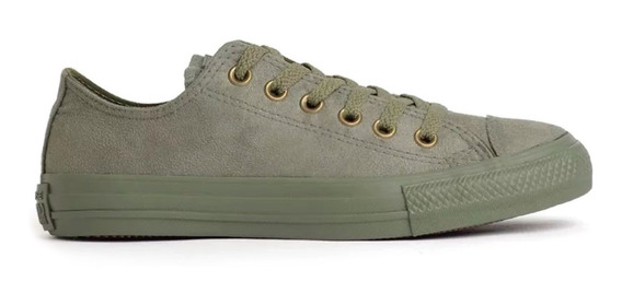Tênis All Star Suede Verde Musgo Converse Chuck Taylor