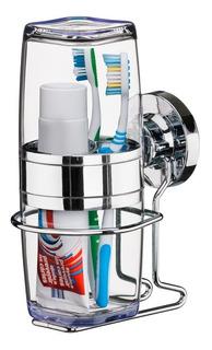Suporte Porta Escova De Dente E Creme Dental Fixação Ventosa