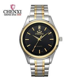 Relógio De Pulso Masculino Chenxi Luxo Social Frete Grátis