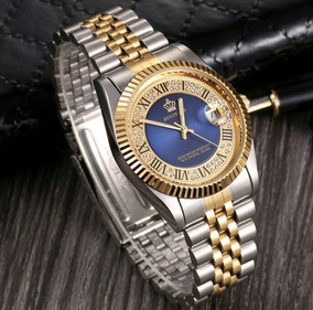 Relógio Feminino Metal Dourado Na Cor Prata Quartz De Luxo