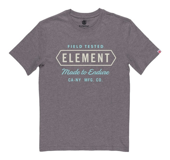 Remera M/c Element Station Tee Grey Hombre