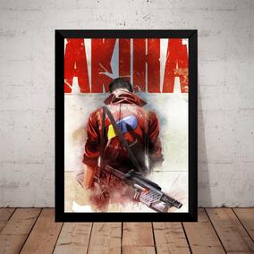 Quadro Decorativo Filme Akira Anime Manga Poster Moldurado
