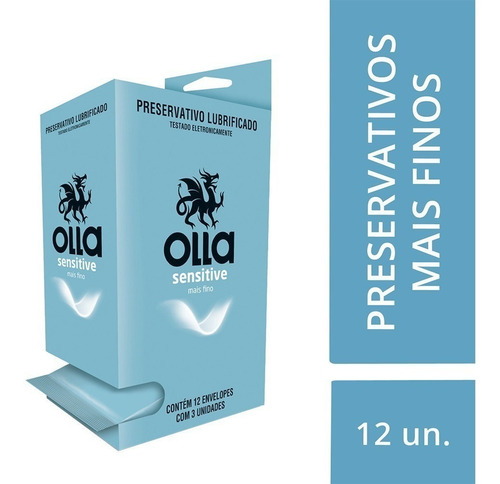 Preservativo Olla Sensitive Display C/ 12x3 Camisinhas