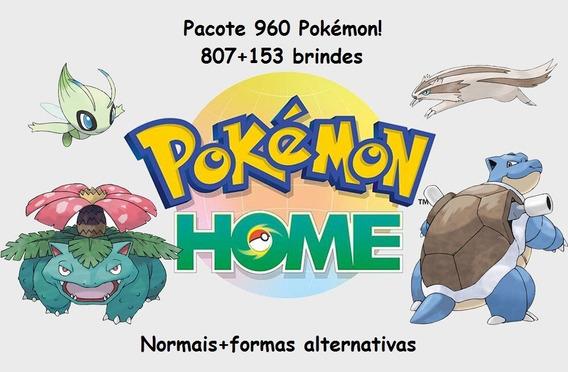 Pacote 960 (807+153) Pokemon Home Switch! Normais!