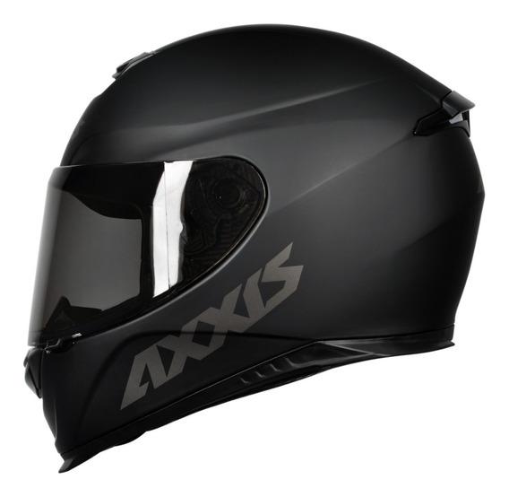 Capacete Axxis Eagle Solid/monocolor Matt Black/grey