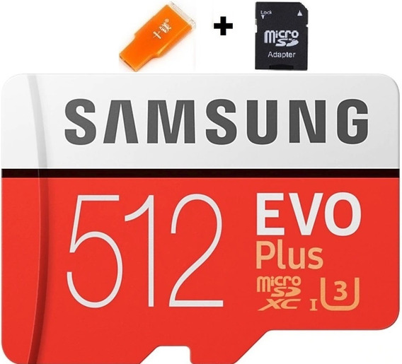 Cartão Samsung Micro Sd Evo Plus 512gb 100mb/s Sdxc 4k U3.