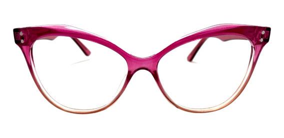 Óculos De Grau Del Carmen Pink Cristal Degradê