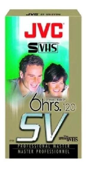 Fita De Video Super Vhs Jvc St-120sv 120min 5 Unidades