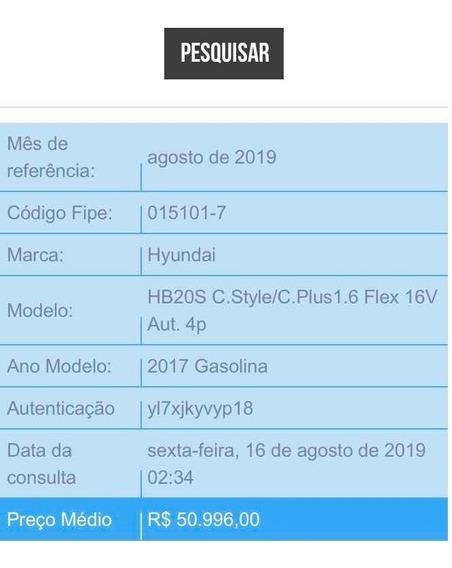 Hyundai Hb20s 1.6 Comfort Plus Flex 4p 2017