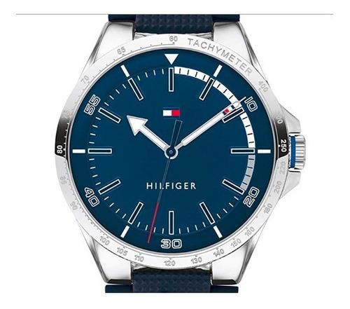 Relógio Tommy Hilfiger Original Novo Masculino Pulseira Azul
