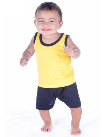 Shorts E Regatas Bebê Menino Infantil Kit 10 + 10 = 20 Peças