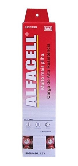 Pilha Palito Aaa 3a R03p 1,5v Alfacell Cx 60 Un. Original
