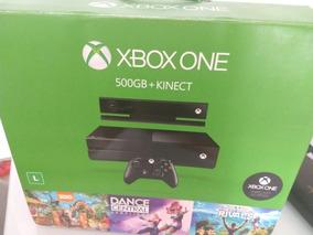 Xbox One Com Kinect + 2 Controles Recarregáveis E Jogos