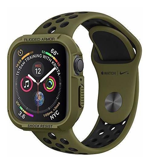 Spigen - Carcasa Para Apple Watch (44 Mm, Serie 5 Y Serie 4)