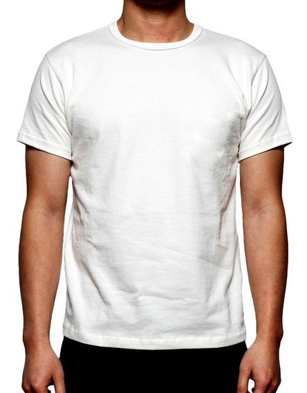 Remera Lisa Modal Polyester P/ Sublimar Talles 1 Al 5 Unisex