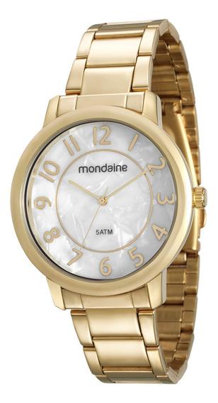 Relógio Feminino Dourado Mondaine 53534lpmvde1 Nfe/original