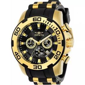 Relógio Masculino Invicta Pro Diver 22340 Ouro 18koriginal