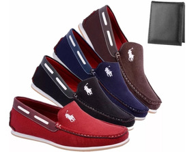 4 Pares Mocassim Casual Dockside Sapatenis Masculino+ Cart.