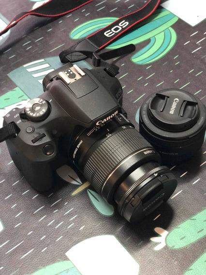 Canon Eos T7 + Objetivo Fijo F/ 1.8