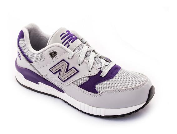 Zapatilla New Balance Kl 530 Lgg Gris Violeta Mujer Rcmdr