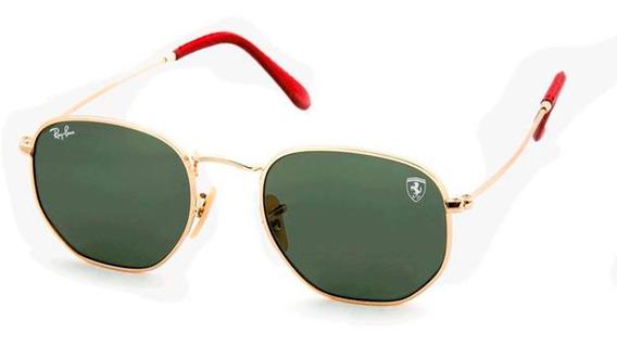 Óculos De Sol Hexagonal Ferrari Original Masculino Feminino