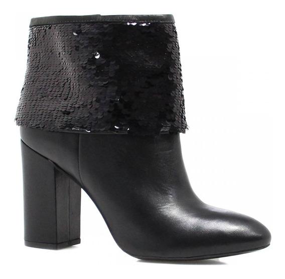 Bota Cano Curto Zariff Shoes Ankle Boot Lantejoulas 192037
