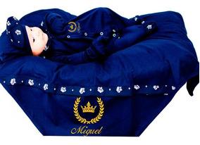 Saída De Maternidade Realeza Príncipe Marinho Personalizável