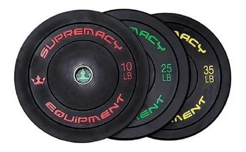 Discos De Caucho Supremacy 2 Uni De 25 Lb - Negro