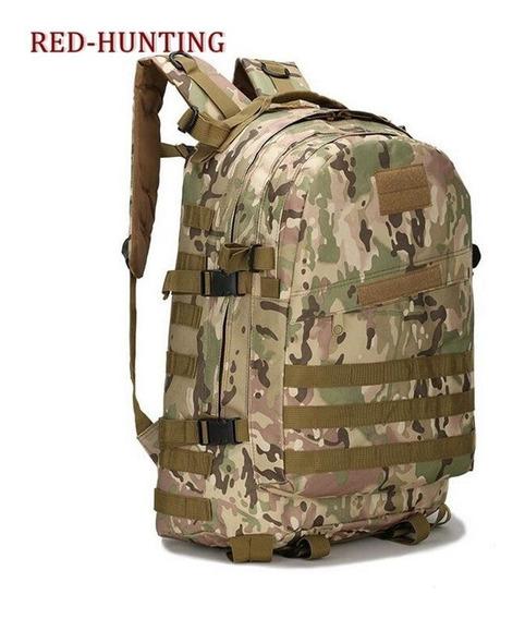 Mochila Militar Camuflada Camping Super Forte 40l Resistente